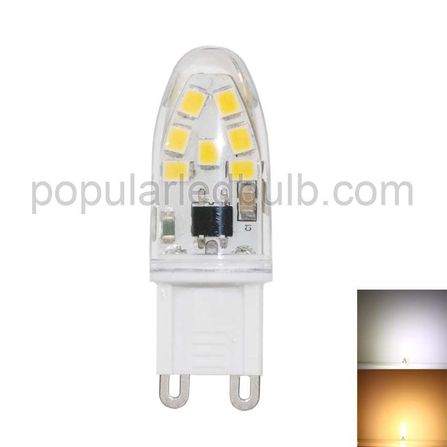 AC 230V G9 LED 1.3W 110-140lm 7000K led 2835 SMD Light Bulb leds