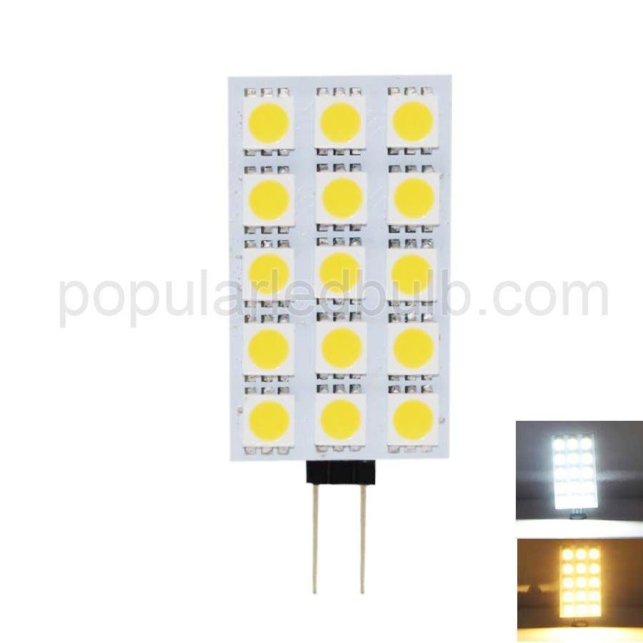 DC 12V G4 2.5W 130-150lm 7000K led 5050SMD led Light with PCB Series